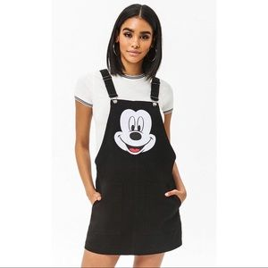 Disney Mickey Mouse Overall Dress NWOT